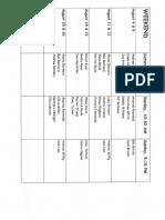 Servers Schedule August 2018