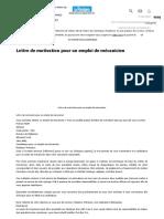 Lettre de Motivation Pour Un Emploi de Mécanicien - Modèles de Lettres - Le Parisien