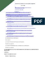 Ley Nº 29062 Ley que modifica la Ley del Profesorado en lo referido a la carrera pública magisterial