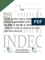 [Estado, Concepções de Estado, Estado e Sociedade Civil - Aula II - Helder Pereira]