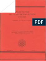 Index to the Salt Lake Mining Review 1899-1928 B-91