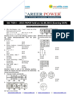 Ssc Paper Held in August 2016 Paper