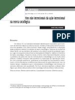 o Estudo Dos Efeitos Não Intencionais Na Ação Intencional Na Teoria Sociológica