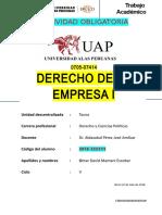 Derecho de La Empresa i - Omar Mamani Escobar