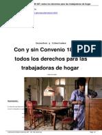 Con y Sin Convenio 189 OIT Todos Los Derechos Para Las Trabajadoras de Hogar