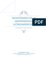 Bicentenario de La Independencia Latinoamericana - Anthony Ramos Moscaiza