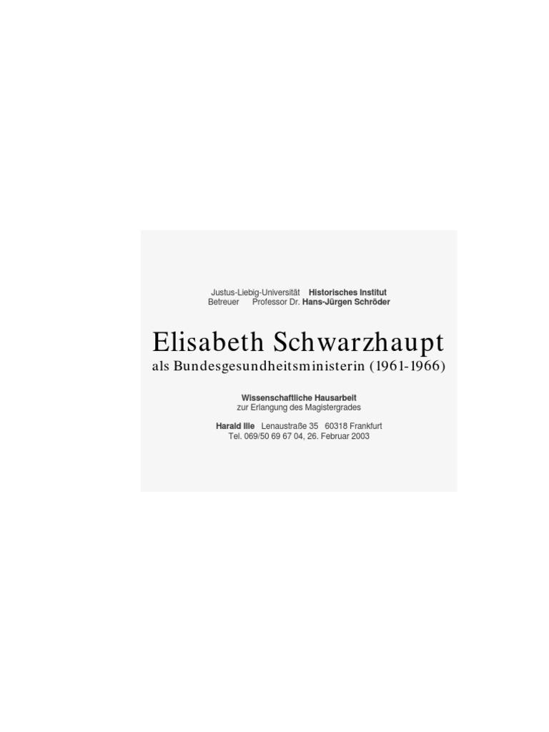 Elisabeth Schwarzhaupt als Bundesgesundheitsministerin (1961-1966)