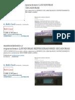 Mantenimiento y Reparaciones Lavadoras Refrigeradores Secadoras