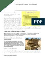 Normas de Clasificación Para La Madera Utilizada en La Construcción