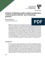 !!!!!Tadajewski_critical Performativity and Marketing