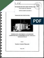 Modelo de Angstrom Maputo Moçambique Radiacao Solar-Faustino Armando Nhanombe