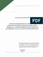 Estudo de Métodos Diretos e Indiretos de Radicaa Nuvens