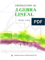 Lang Serge - Introduccion Al Algebra Lineal