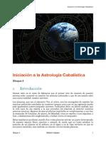 Iniciación a Las Astrología Cabalística Blq 4