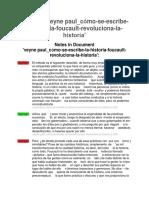 veyne paul_cómo-se-escribe-la-historia-foucault-revoluciona-la-historia Notes