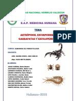 s7.Artrópodos Escorpionimso Garrapatas y Escolopendras