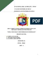 Universidad Nacional Del Altiplano Comercio Internacional