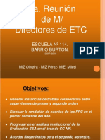 5ta Reunion MD ETC Para Directores