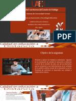 Presentación de la asignatura Calidad en Educación a distancia
