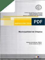 Inspección Técnica de Obra 2 - 14 Municipalidad de Chépica Restauración y Ampliación Antigua Casona Municipal - Octubre 2014