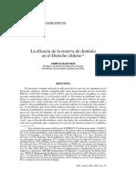 Alcalde, La eficacia de la reserva de dominio.pdf