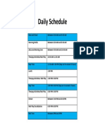 daily schedule blank