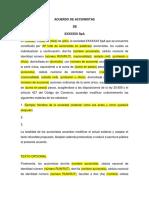 Copia de Seguridad de Acuerdo de Accionistas