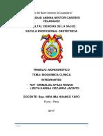 Monografia Bioquimica Clinica 1