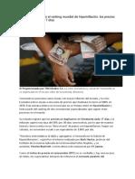 Venezuela Entró en El Ranking Mundial de Hiperinflación