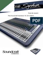 Soundcraft Signature 16 Manual PT-BR
