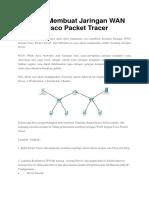 Simulasi Membuat Jaringan WAN Dengan Cisco Packet Tracer
