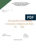Monografia  Interés Simple, Compuesto y Diagrama de Flujo de Caja