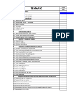 Cronograma Cronologico Del Curso de Dibujo Tecnico