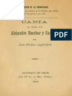 Carta alejandro escobar y carvallo