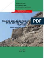 A6510 Peligro Geológico Por Caída de Roca en El Centro Poblado El Guayabo