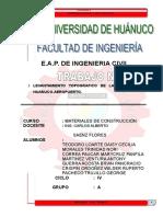 226149298 Monografia de Levantamiento Topografico de La Carretera Huanuco Aeropuerto Copia PDF