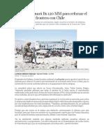Bolivia Destinará Bs 120 MM Para Reforzar El Control en La Frontera Con Chile