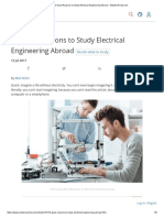 10 Good Reasons to Study Electrical Engineering Abroad
