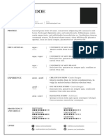 Light Resume Template