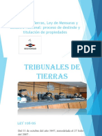 Tribunal de Tierras, Ley de Mensuras y Catastro Nacional