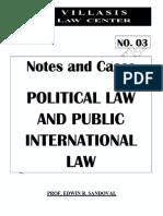 Sandoval - Political Law & Public International Law Notes (2018)