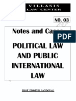 Sandoval - Political Law & Public International Law Notes (2018)