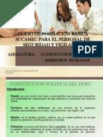 Curso Formacion Basica SUCAMEC Contitución Politica y Derechos Humanos 2015-2017