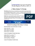 Prediksi Skor Mitra Kukar vs Persija 21 Juli 2018
