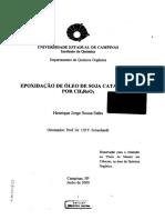 Artigo-Epoxidação de Óleo de Soja Catalizado Por CH3RhO3