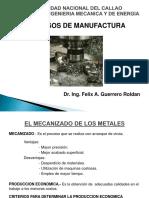 Procesos de Manufactura I - Mecanica de Corte (1)