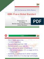 GSM R as a Global Standard