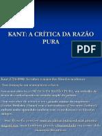 KANT A CRÍTICA DA RAZÃO PURA.ppt