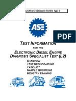 ASE 2010 L2 Test Information