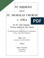 Two Sermons Atka